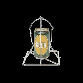Rotissoir verticale à Poulet sur canette de bière