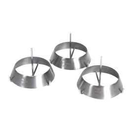 Set de 3 anneaux de grille en inox
